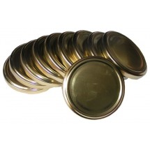 Jar Lids 10pcs 82 mm - Gold